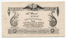 Pictorial envelope from a Pharmacy in Broadstone Dorset - A.B. Haynes MPH.S.
