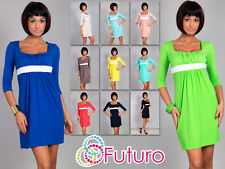 Elegant Women's Coctail Dress 3/4 Sleeve Square Neck Tunic Sizes 8-18 8490
