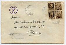 REGNO, ANNULLI R. NAVE ZENO, LUG 1943, 2 X C30 IMPERIALI PROPAGANDA     m