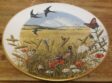 Franklin Mint Country Year Peter Barrett Collectors Plate The Wheatfields August