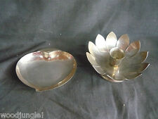 Triple  THREE CROWNS SILVERSMITHS SILVER HEART CANDY DISH LEONARD CANDLE HOLDER