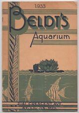 [# 13792] 1933 BELDT'S AQUARIUM CATALOG