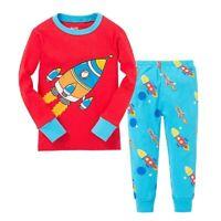 Boy rocket Pajamas Suit Cotton Baby Long Sleeve Sleepwear Toddler 2pcs Clothes
