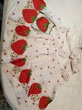 Vintage hand made strawberry Print apron w/pocket and tie back