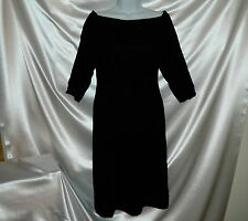 Little Black Dress Velvet Oscar de la Renta Sm 6 Jewel Neckline Vintage Excel!