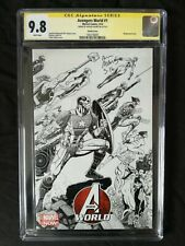 AVENGERS WORLD #1 WRAPAROUND SKETCH COVER LTD 1:125 CGC SS 9.8 SIGN ARTHUR ADAMS