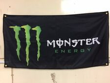 Monster Energy Banner Flag ~ Block Motocross Drift X games Busch Mancave