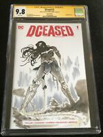 Signed DCEASED #1 CGC 9.8 by Jamal Campbell with WONDER WOMAN Original Sketch