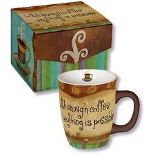 Carson Homes Coffee Mug 14 oz Ceramic With Enough Coffee Anything is Possible