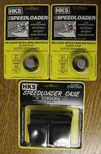 (2)HKS 32-J Speedloaders [6-shot .32 H&R Mag] + (1)HKS 100B Nylon Case