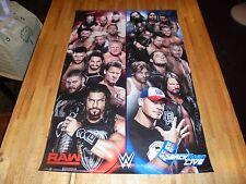 WWE Raw & Smackdown Superstars Poster 24 X 36  AJ Styles John Cena Roman Reigns