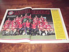 SHOOT MAGAZINE     FEBRUARY 1982    MIDDLESBROUGH TEAM GROUP IN COLOUR 1981-1982