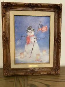 """MARTY BELL Signed Lithograph on Canvas. """"Winter Pride"""" # 109. RARE"""
