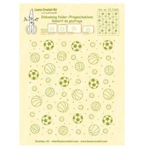 LeCrea - Prägeschablone Hintergrund Sport 14.4x16cm 35.1680 (01-16) 688680