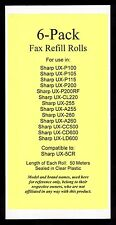 6-pack of UX-5CR Fax Refills for Sharp UX-255 UX-A255 UX-260 UX-A260 UX-CL220