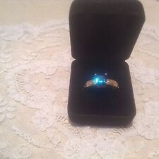 stone Size 10.5 Euc Tibetan Brass Ring with blue