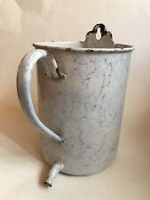 Antique Graniteware France Irrigator Blue White Enamel