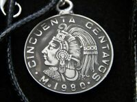 Mexican Cincuenta 1980 centavos coin necklace nice gift various years available