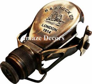 Brass Binocular Telescope Vintage Antique Nautical Spyglass Scope