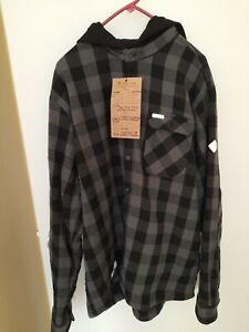 Fleece Lined hooded Flannel L Ski The East Sample