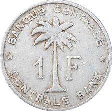 Belgian Congo Belge Rwanda-Urundi 1 Franc 1957 KM#4 (2980) Key Date