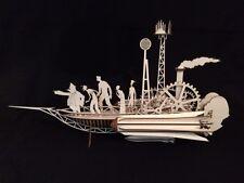 Taglio laser in legno Jules VERN SKY SAILER-Steampunk-Modello/Kit Puzzle