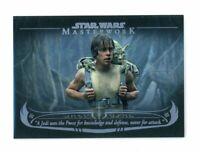 2020 Star Wars Masterwork The Wisdom of Yoda Card WY-4 /299