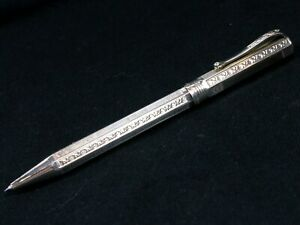 MONTEGRAPPA ETCHED 925 STERLING SILVER BALLPOINT PEN MADE IN ITALY