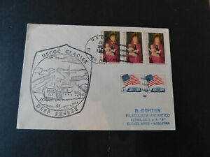 """USA -ANTARCTIC  1968 """" USCGC Glacier Cover to Buenos Aires """" F/Used with Catchet"""