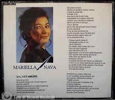 MARIELLA NAVA - SALVATI AMORE Anno 1993CDS