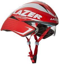 Lazer Tardiz inkl Visir Triathlon Zeitfahren Helm Rot Weiß L 58-61 cm