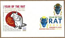 2020 LUNAR NEW YEAR  OF THE RAT - GLEN CACHET FIRST DAY ISSUE  DCP CANCEL