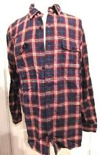 Territory Ahead Men's Double Faced Cotton Long Sleeve Shirt Red Blue X-Large