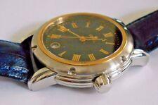 Mint Men's Gevril S0111 SS/18K Solid Gold Leather Quartz Watch Box  #1356