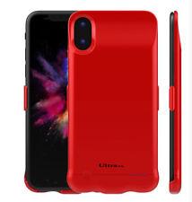 Ultra Couleur Rouge 5200 mAh Alimentation De recharge étui pour Iphone X iOs11