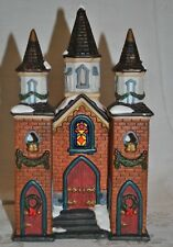 Galleria HandPainted Porcelain Church with Light