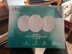New TP-Link Deco M5 AC1300 MU-MIMO Dual-Band Whole Home Wi-Fi System (3-Pack)