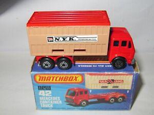 MATCHBOX SUPERFAST No.42 MERCEDES CONTAINER TRUCK 'N.Y.K.' MIB