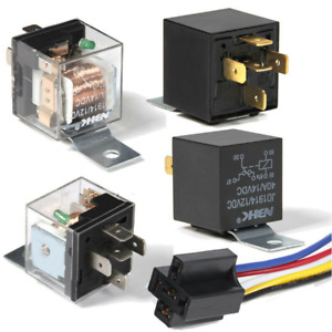 12V Automotive Fused On/Off Fused Relay 40A 5-Pin with Holder Socket Car Van