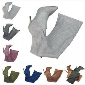 Sexy Women's Overknee High Thigh Boots Pointy Toe Stilettos Shoes Nightclub Xmas
