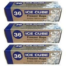 3 x Tidyz Ice Cube Freezer Bags 36 Bags **0812