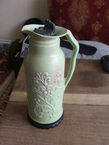VINTAGE SMALL GREEN FLASK BY THE BRITISH VACCUM FLASK COMPANY