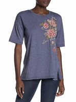 Johnny Was Plus Size 3X Cecile Floral Embroidered T-Shirt TeeBoho Cotton Love