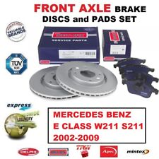 FOR MERCEDES E CLASS W211 S211 2002-2009 FRONT AXLE BRAKE PADS + DISCS SET 295mm