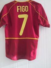 Portugal 2002-2004 8 Home Football Shirt Size Small Figo 7 /43491