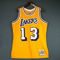 100% Authentic Wilt Chamberlain Mitchell & Ness Lakers Jersey Size 36 Small S