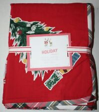 "Pottery Barn Kids Holiday Collection Jolly Santa Tablecloth 70"" X 90"""