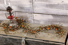 """Pip Berry & Rusty Star Garland, 40"""" - Olive & Ivory"""