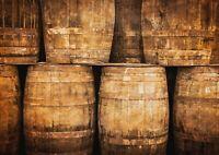 A1 Whiskey Barrels Poster Art Print 60 x 90cm 180gsm Cooper Scottish Gift #15681
