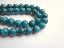 10mm Round Natural Blue Apatite Semi Precious Gemstone Beads, 10 beads